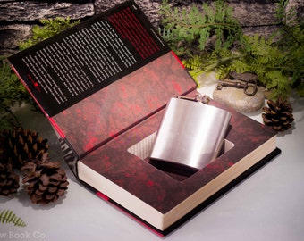 Hollow Book Safe and Hip Flask - Hannibal