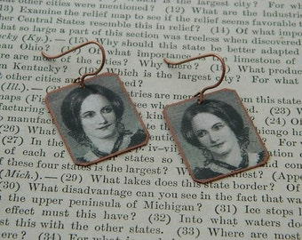 Charlotte Bronte earrings mixed media jewelry Bronte Jewelry