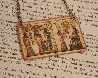 Egypt necklace Egyptian jewelry Ancient Egypt mixed media jewelry