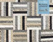 Big Fences PDF Lap Quilt Pattern, Beginner, Baby Quilt Pattern, Jelly Roll, Basic, Strip Quilt Pattern, Beginner Quilt Pattern, Crib Quilt