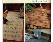 Rugs & Runners to Crochet Pattern Book Leisure Arts 2351