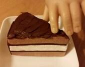 American Girl size Doll layer cake slice