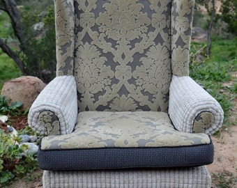 Modern Black and Gray Armchair