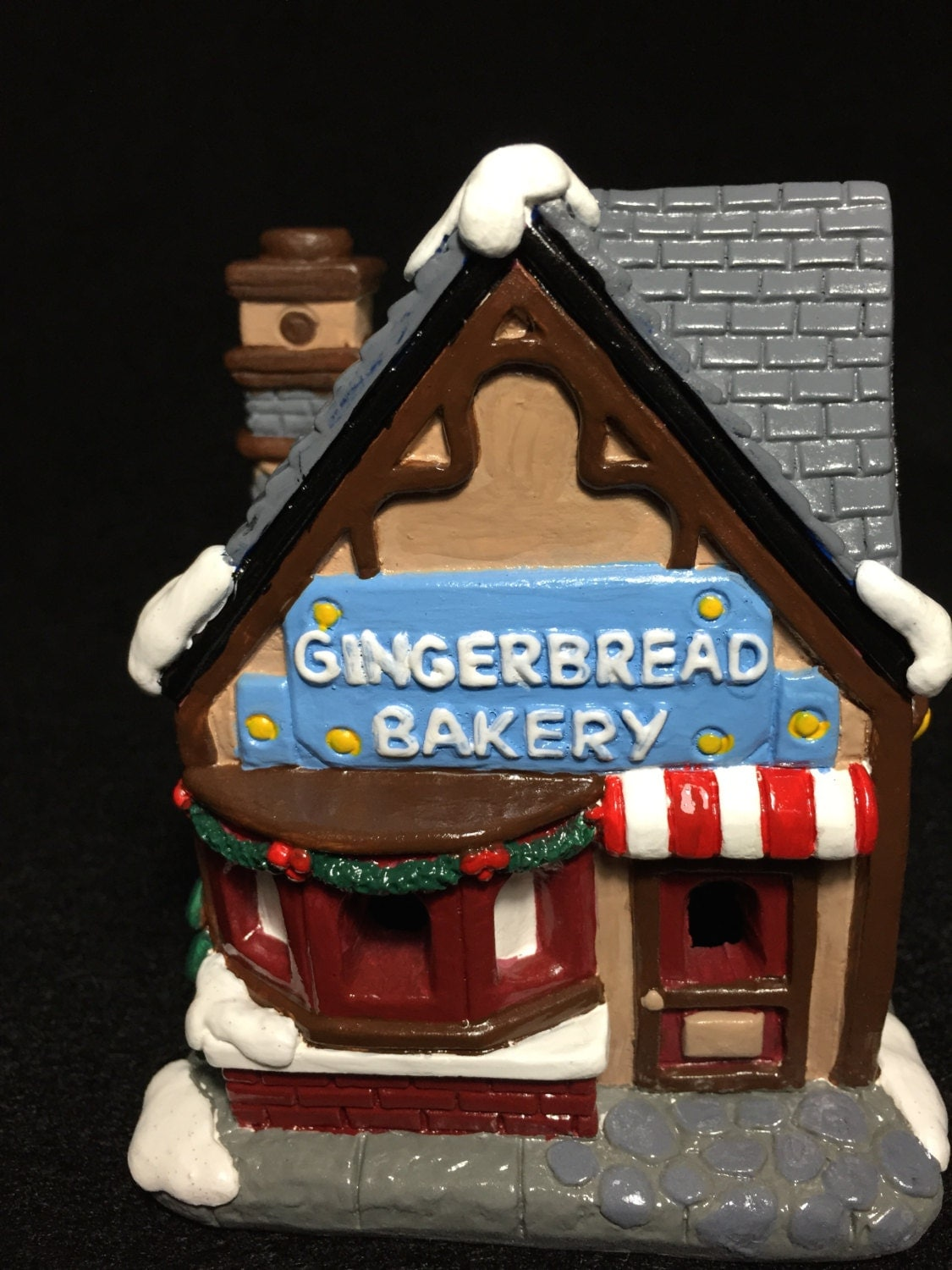 Painted Ceramic Gingerbread House