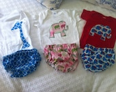 Baby bloomers and appliqué tee shirt