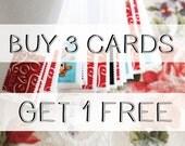 Buy 3 Cards / GET 1 FREE