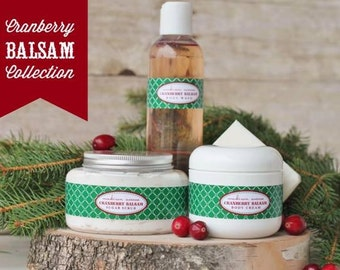 Luxury Handmade Shea Butter Skincare products in Cranberry Balsam ~ absolutely amazing
