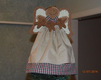 Christmas tree topper gingerbread a ngel