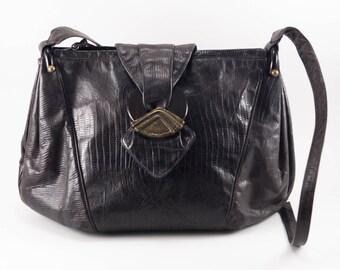 Vintage Faux Snakeskin Purse Sharif 1980s Designer Handbag