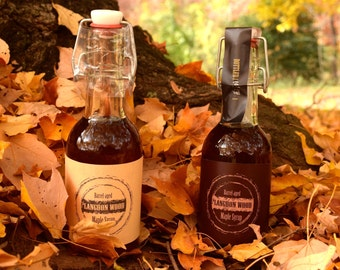 TWO Flavors of Barrel Aged Maple Syrup - Rye and Bourbon