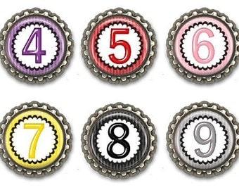 Kids Fridge Magnets Numbers Colors Teachers Parents Party Favors Set of 10