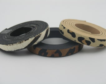 3 Colors--1 Meter 10.0x2.0mm Flat Pony Hair Bracelet Leather Cord