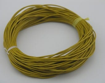 25 Yards 1.5mm Round Goldenrod  Real Leather Cord Without Clasp Lobster