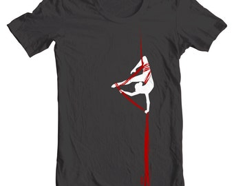 In the Silks - Aerialist Acrobat Aerialk Silks Yoga- Tee Shirt or Hoodie