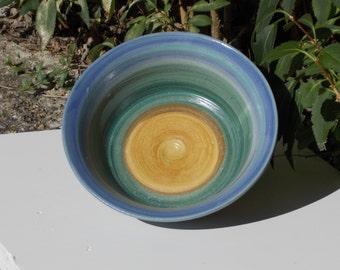 Blue Green Tan Bowl