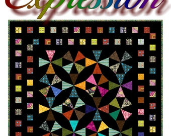 EXPRESSION - Quilt-Addicts Patchwork Quilt Pattern