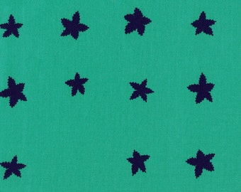 Stars in Aqua Indigo - Mesa - Alexia Marcelle Abegg - Cotton & Steel - 1 Yard