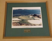 Vintage 1990 Pebble Beach Golf Links Photo, The 7th Hole,  20th Steiny Invitational