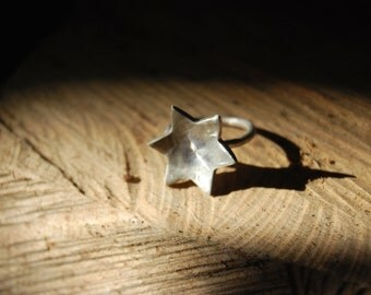 Star ring - Sterling Silver - Handmade - Made to order