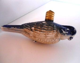 Collectible Milk Glass Bluebird Christmas Bulb Circa, 1930s