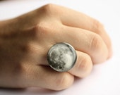 Moon ring, Full Moon ring, gift for her, statement ring, adjustable ring, cocktail ring
