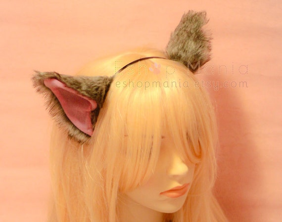 Kitty ears and tail costume