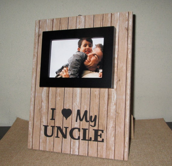 I Love My Uncle Gift Sign Photo Frame Picture By