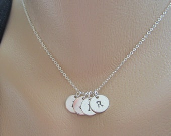 Personalized Initial Necklace, Children Initial Necklace, Four Initial Necklace, Family Jewelry, Best friends, Custom Initial Necklace