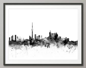 Toronto Skyline, Toronto Canada Cityscape Art Print (1464)