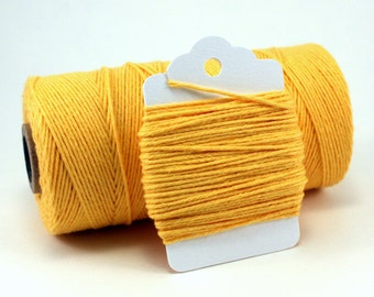Bright Yellow Twine - Yellow String - Solid Yellow Divine Twine - Lemon Wedding Twine - Baby Shower Twine - Canary Twine - Cotton String
