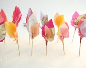 feather arrow cupcake toppers - sorbets