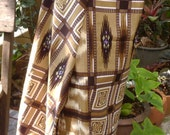 man's sarong Brown and Tan check MCB1