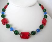 Art  Deco Choker Czech Glass Necklace