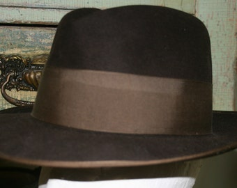 FEDORA Vintage Fedora Mid Century Modern MAD MEN 1950s Knox Fifth Avenue New York Fedora