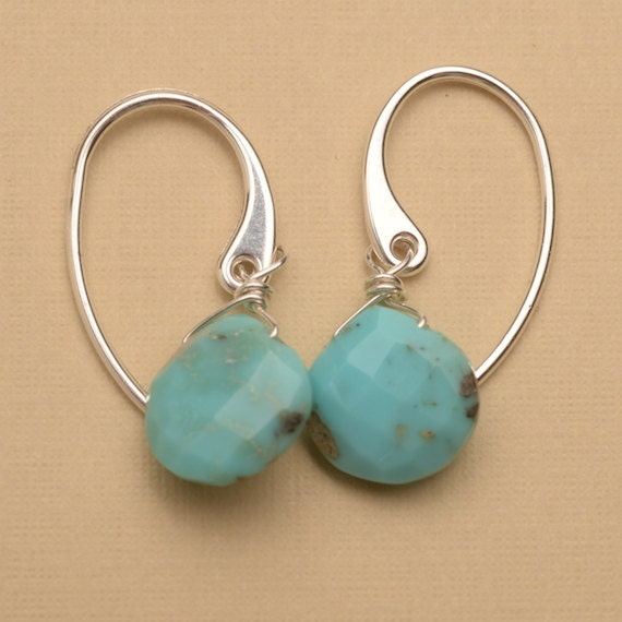 blue turquoise earrings december birthstone turquoise