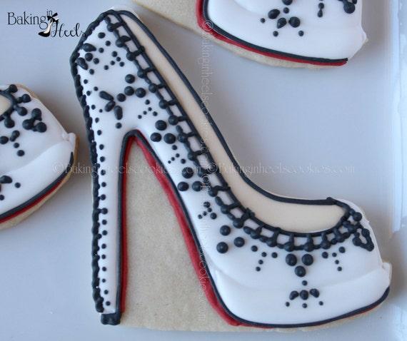 high heel decorated cookies shoe cookies heel cookies