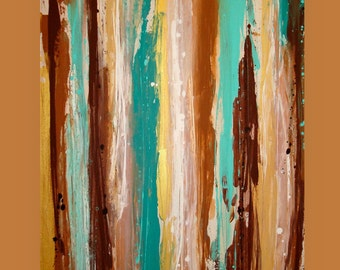 Abstract Painting, Acrylic Art,Fine Art Painting,Colorful Painting,Acrylic on Canvas by Ora Birenbaum, Patina 4 30x40x1.5""
