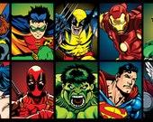 Superhero Stickers 13pk