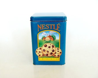 Blue Nestle Toll House Cookies Tin Limited Edition, Collectible Tin Canister