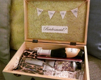 Will You Be My Bridesmaid box - Bridesmaid gift, wedding party gift, engagement party gift