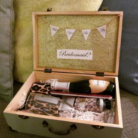 Wedding Gift Boxes Pinterest : ... boxBridesmaid gift, wedding party gift, engagement party gift