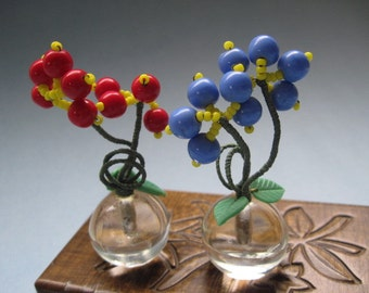 Blue Flower Place Card Holders 96