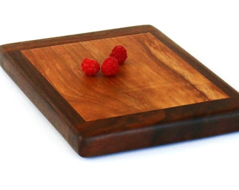 """Small Cheese Board, Maple and Walnut - Ready to Ship - 8-1/4"""" x 6"""" x 3/4"""""""