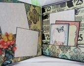 "Junk Journal 6.5"" x 8"", Vintage Scrapbook, Smash Book, Photo Album by Island Lilly Designs"