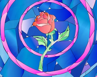 enchanted rose.. beauty and the beast.. digital download..printable