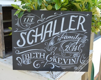 Family Name Sign - Personalized Home Decor - Family sign