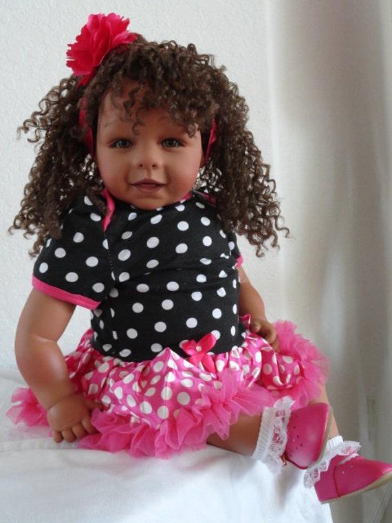 Reborn 22 Biracial Hispanic Ethnic Toddler Girl By