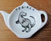 Tea-Rex tea bag tidy - Dinosaur spoon rest
