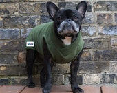 Boys Fleece French Bulldog Pug Sweater Vest - Winter Green