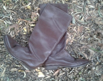 Vintage Womans BrownLeather Boot-Size 7